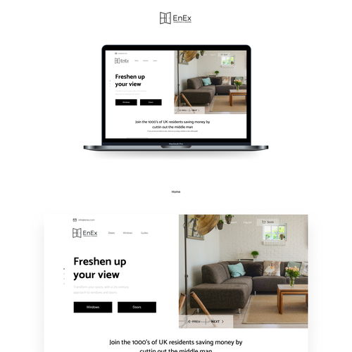 Banner website with the title 'Home-Furnishing web design'