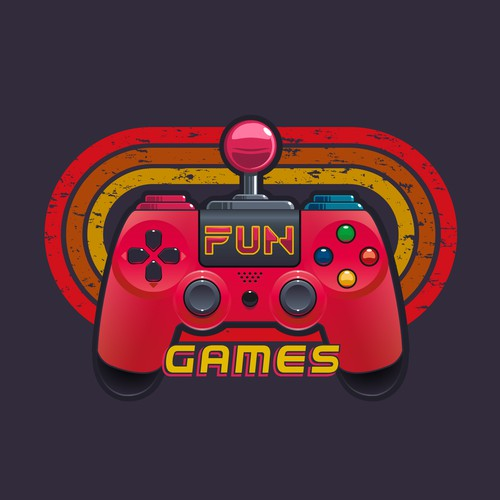 Paddle logo with the title 'Logo Concept for a arcade room'