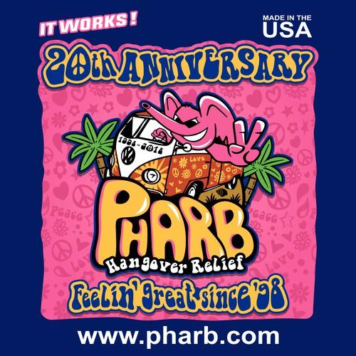 Hippie logo with the title 'Logo PHARB'