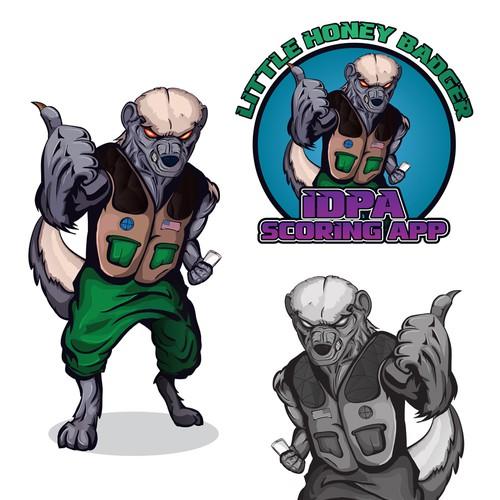Badger logo with the title 'Honey Badger Comic like Rocket Raccoon for logo'