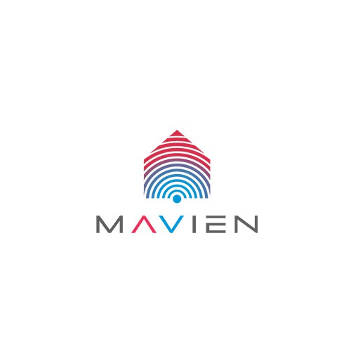 Smart home logo with the title 'Logo for Mavien'