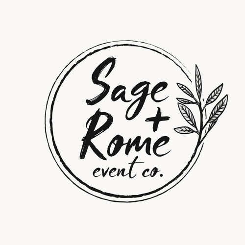 Botanical logo with the title 'Logo for Sage + Rome'