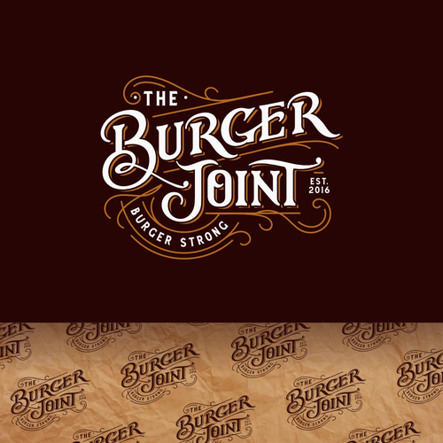 Burger logo with the title 'TheBurgerJoint'