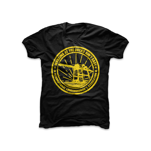 Quote t-shirt with the title 'Working at the Docks T-shirt'