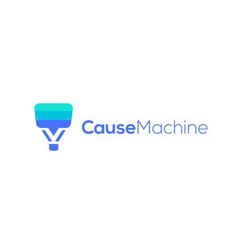 Machine logo with the title 'Cause Machine'