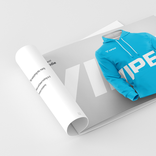Soccer design with the title 'Viper Brand Guidelines Document'