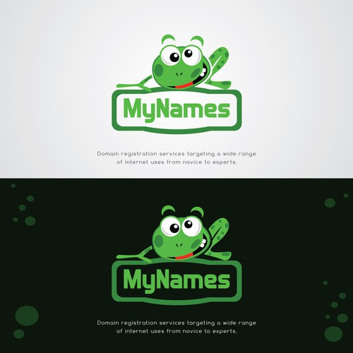 Name design with the title 'Unique, powerful logo for our Domain Registration Services'