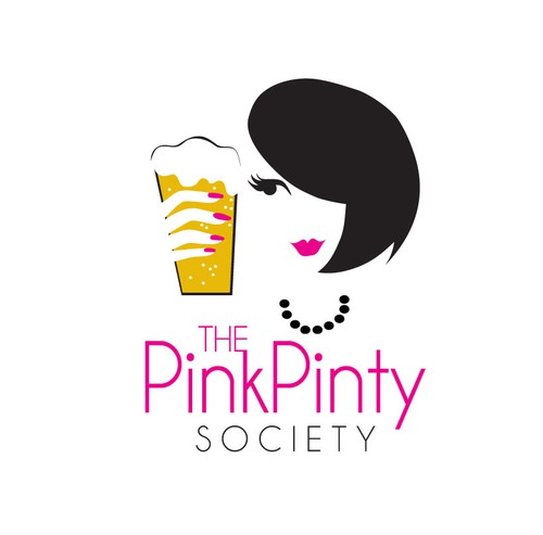 Lips design with the title 'New logo wanted for The Pink Pinty Society'