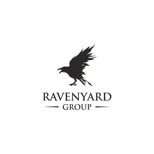 Serif brand with the title 'Brainy, Powerful Brand Development for RavenYard Group'