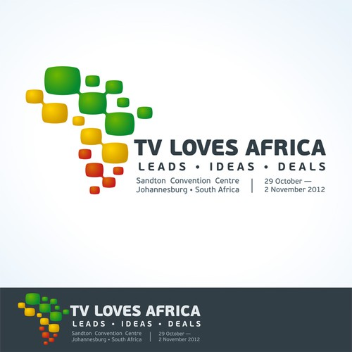 TV design with the title 'Logo for event of African TV industry'