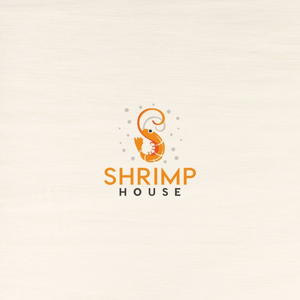Shrimp logo with the title 'Restaurant with seafood.'