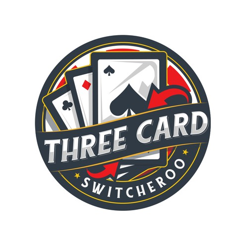 Card logo with the title 'Three Card Switcheroo'