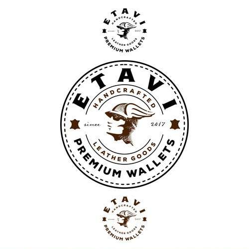 Dude logo with the title 'ETAVI emblem design'