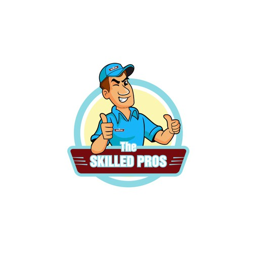 Thumbs up design with the title 'The Skilled Pros'