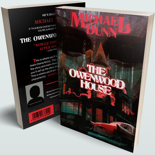 """Scary book cover with the title '""""The Owenwood House"""" Cover'"""