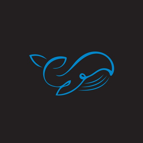 Single-color design with the title 'Simple organic whale '
