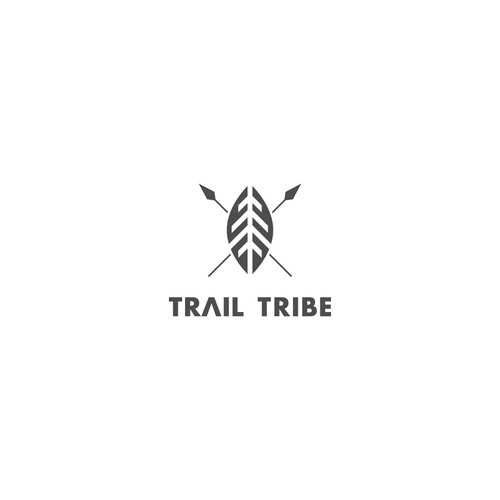 Camping design with the title 'Logo Design for Trail Tribe'