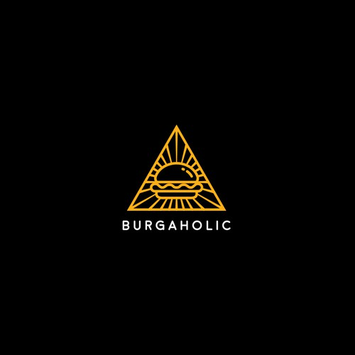 Illuminati design with the title 'Burger Logo Concept'