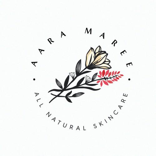Sleek logo with the title 'Feminine cosmetic logo '