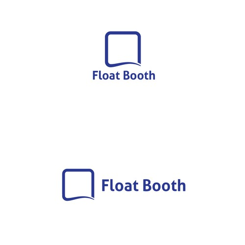 Float logo with the title 'Minimal logo for Float Booth '