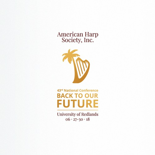 Harp logo with the title 'Harp Conference Logo'