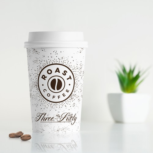 One-color design with the title 'Coffee Cup design'