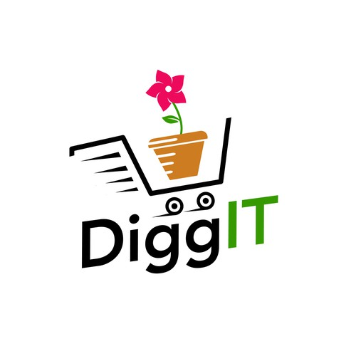 Cart logo with the title 'DiggIT'