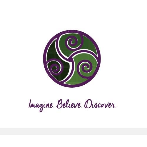 Celtic knot logo with the title 'Logo for a writer's blog.'