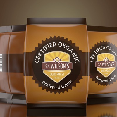 need a design for certified organic coffee