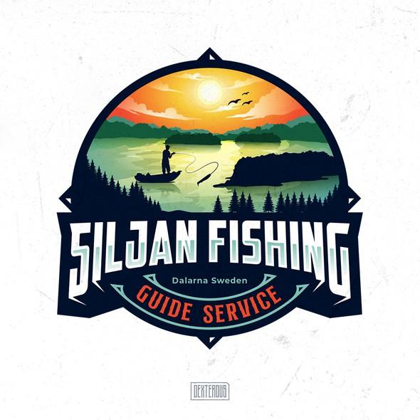 Fisherman logo with the title 'Siljan Fishing Logo'