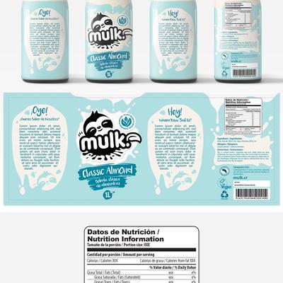 Mulk Label Design