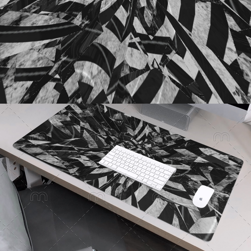 Monochrome illustration with the title 'KRAKEN MOUSEPAD GAMING'