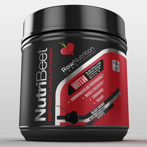 Sports label with the title 'pre workout'