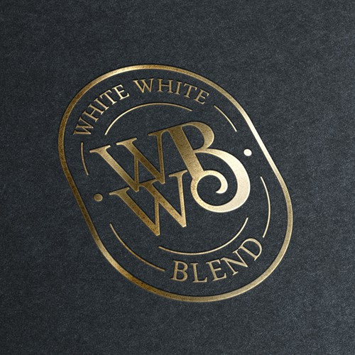 Blend design with the title 'Logo for a wine label'