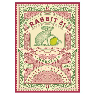Rabbit21 label design