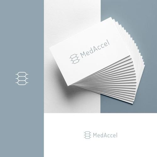 "Nurse logo with the title 'MedAccel ""Spine"" Inspired Logo Design'"