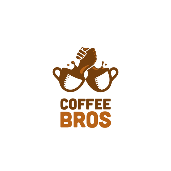 Cooperation logo with the title 'Logo for future world's most famous Coffee YouTube channel'