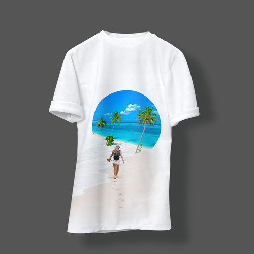 Tropical t-shirt with the title 'Paradise Vibes'