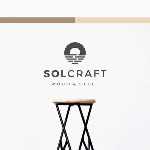 Steel design with the title 'Bold Iconic Logo for Solcraft Custom Fabrication'