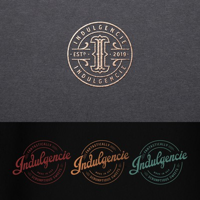 Indulgencie logo and labels design