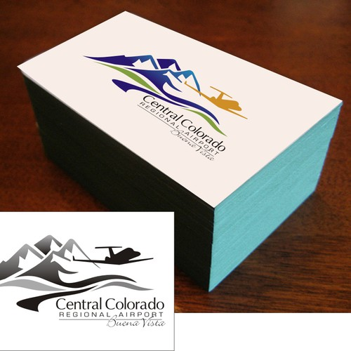 Denver logo with the title 'logo for Central Colorado Regional AIrport'