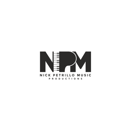 Musician design with the title 'Logo for a music productions company'