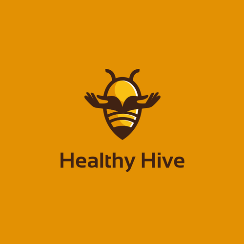 Beehive logo with the title 'Save the Bees with Healthy Hive'