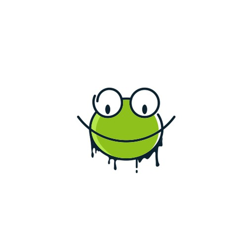 Frog logo with the title 'Design a Logo For T-Shirt, Appeal and Merchandise Company'