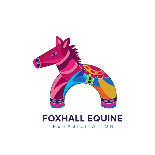 Rehab design with the title 'Foxhall Equine Rehabilitation logo design  for a rehabilitation center for horses.'