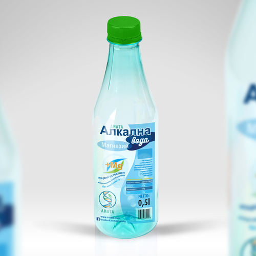 Plastic design with the title 'Amata - Bottle Label'