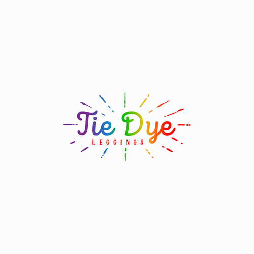 Colorful design with the title 'Tie Dye Leggings'