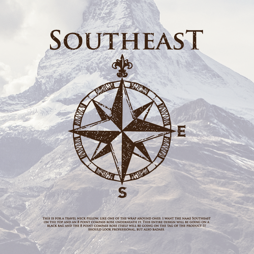 South logo with the title 'hand made logo for sout east'