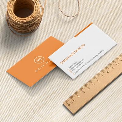 Modern Business Card for Roya Rugs