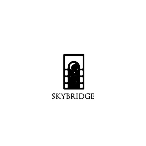 Awesome logo with the title 'bridge/window logo concept'